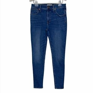 """Madewell NWT 9"""" Mid Rise Skinny Jeans Pendale Wash"""